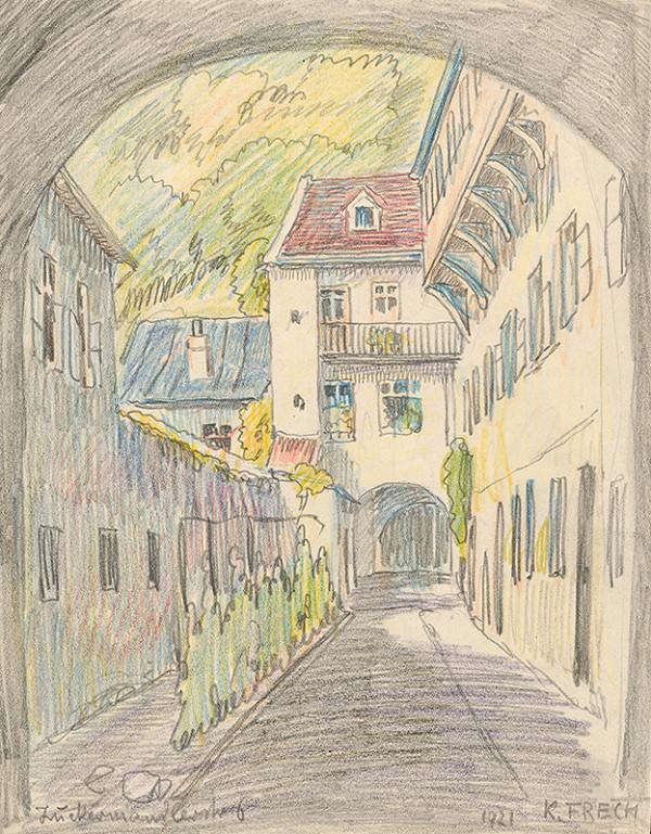 Karol Frech – Dvor na Zuckermandli v Bratislave