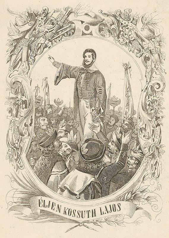 Stredoeurópsky grafik z 2. polovice 19. storočia – Portrét L.Kossútha