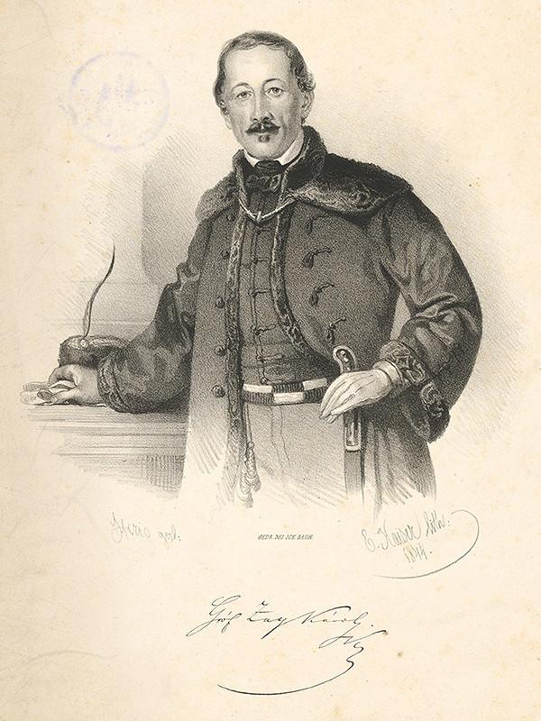 Eduard Kaiser, Károly Sterio - Portrét grófa Karola Zaya