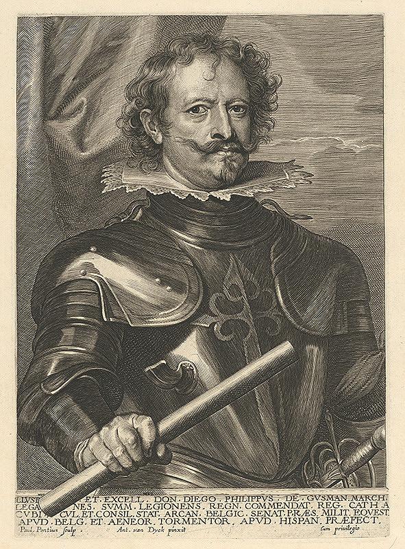 Paulus Pontius, Anthony van Dyck - Portrét Diega Felipe de Guzman
