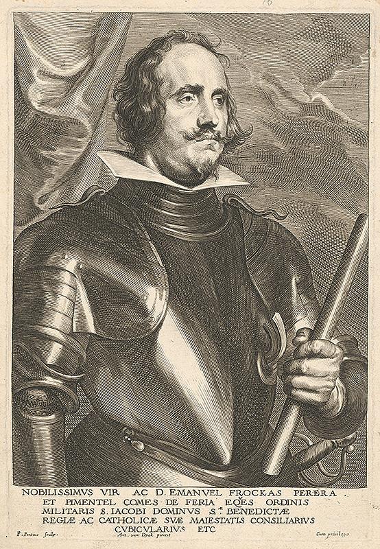 Paulus Pontius, Anthony van Dyck - Portrét Emanuela Frockas