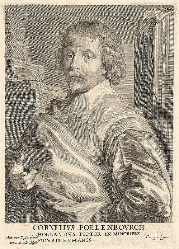 Pieter de Jode, Anthony van Dyck - Portrét Cornelisa Poelenburga