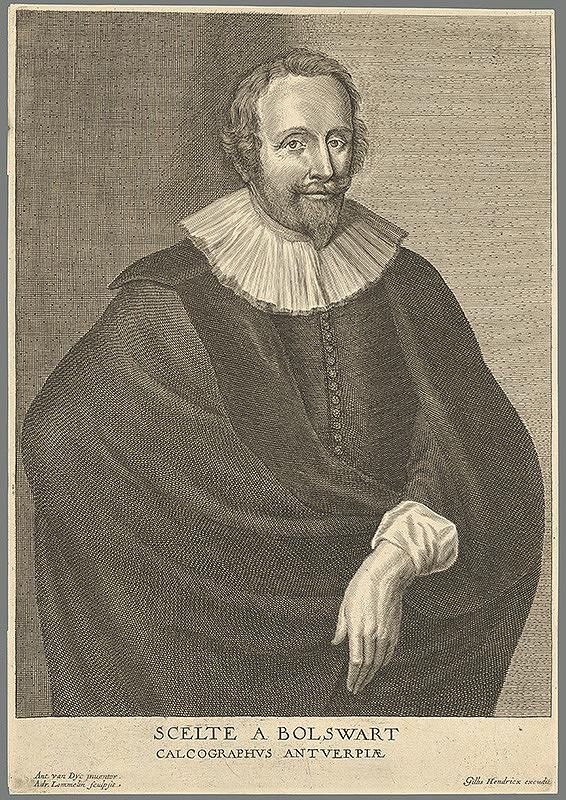 Adriaen Lommelin, Anthony van Dyck, Gillis Hendricx - Portrét Schelte Adamsz. Bolswerta