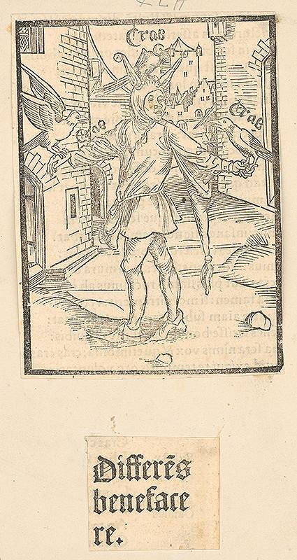 Stredoeurópsky grafik zo 16. storočia – Differés benefacere