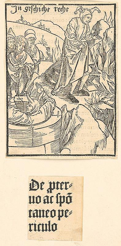 Stredoeurópsky grafik zo 16. storočia – De pteruro ac spotaneo periculo