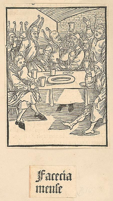 Stredoeurópsky grafik zo 16. storočia - Faceria mense