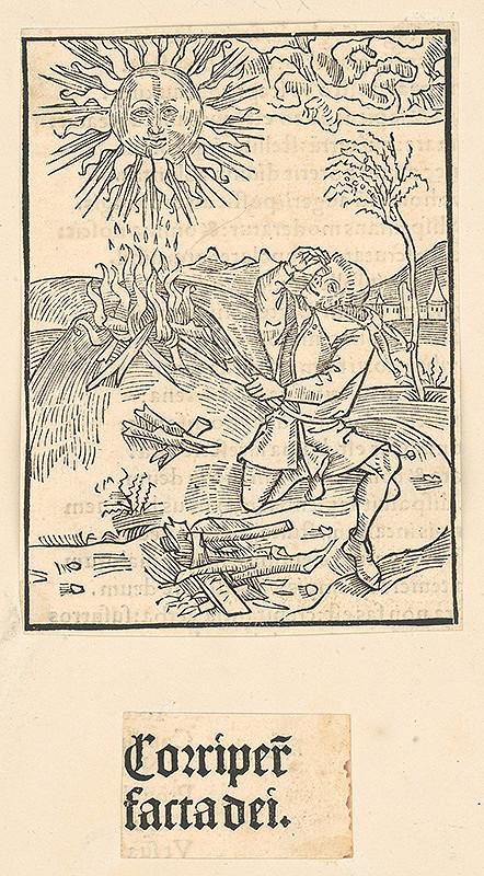 Stredoeurópsky grafik zo 16. storočia – Corriper facta dei
