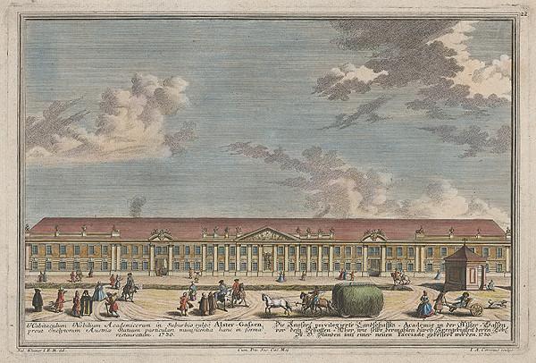 Salomon Kleiner, Johann August Corvinus – Cisárska krajská akadémia v Alster - Gassene
