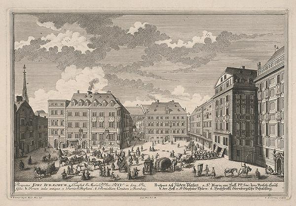 Johann August Corvinus, Salomon Kleiner – Plán židovského námestia vo Viedni