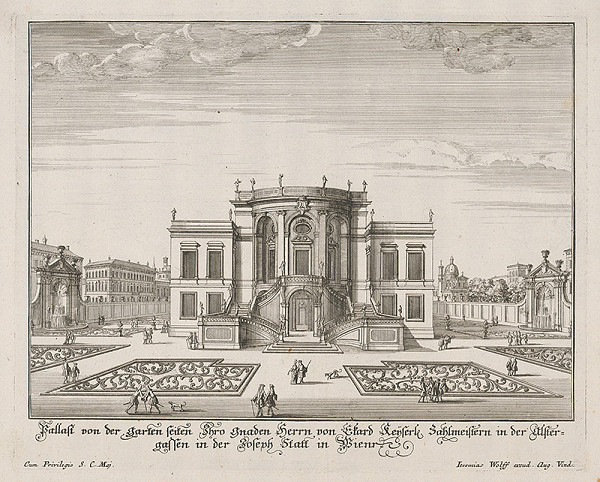 Jeremias Wolff – Návrh záhradného paláca v Josefstadt vo Viedni