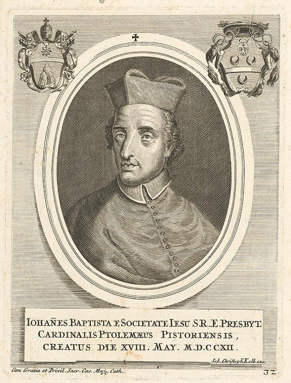 Nemecký grafik z 18. storočia – Portrét kardinála Ptolemaeusa Pistoriensisa