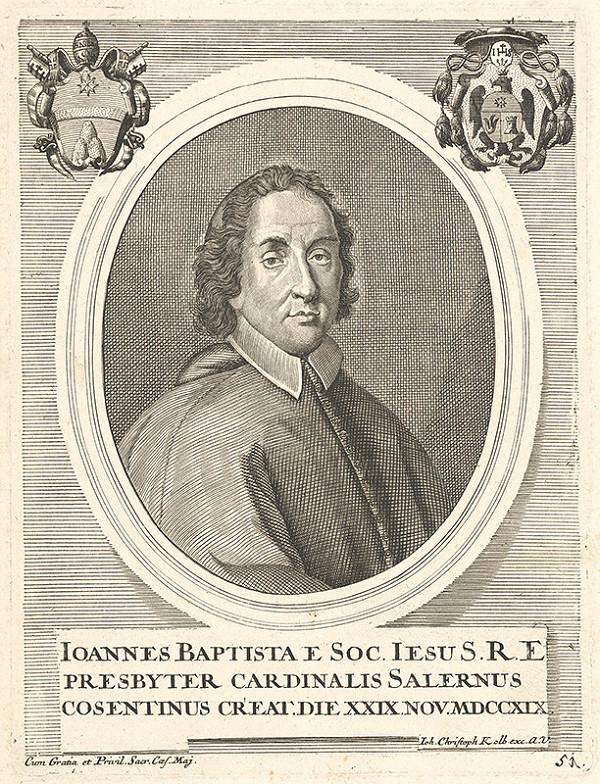 Nemecký grafik z 18. storočia – Portrét kardinála Salernusa
