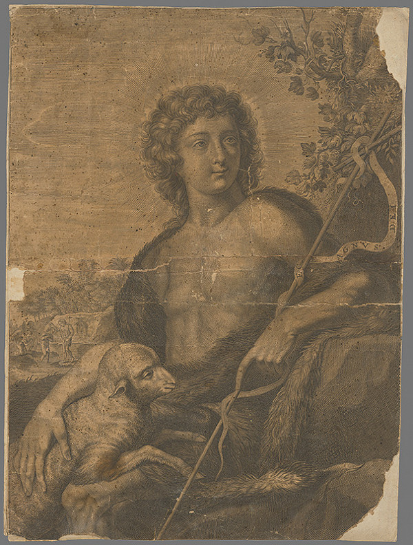 Stredoeurópsky grafik z prelomu 17. a začiatku 18. storočia - Svätý Ján Krstiteľ
