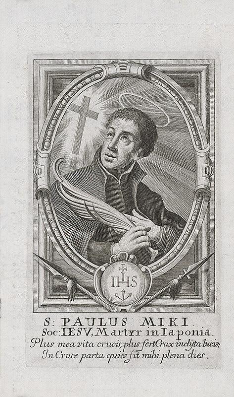 Stredoeurópsky grafik z prelomu 17. a začiatku 18. storočia – Svätý Pavol Miki z Japonska