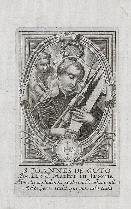 Stredoeurópsky grafik z prelomu 17. a začiatku 18. storočia - Svätý Ján de Goto z Japonska