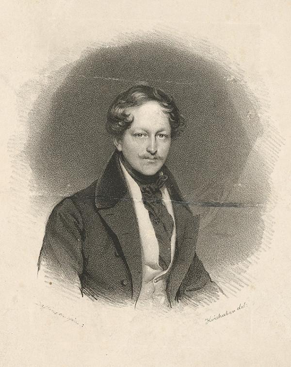 Moritz Michael Daffinger, Joseph Kriehuber - Portrét kniežaťa Pálffyho