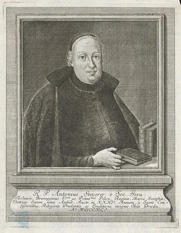 Stredoeurópsky grafik z 18. storočia - Portrét Antoina Steyerera