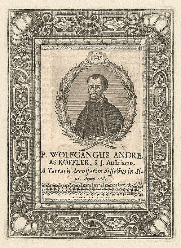 Stredoeurópsky grafik z 18. storočia - Portrét W. Andreho