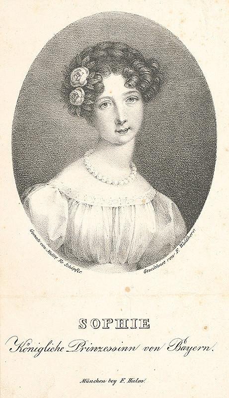 Franz Christian Waldherr, Franziska Schöpferová - Portrét Žofie Bavorskej