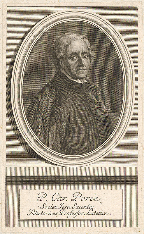 Stredoeurópsky grafik z 18. storočia - Portrét P.Car.Porée