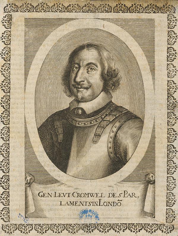 Stredoeurópsky grafik z 1. polovice 17. storočia - Portrét generála Cromwela
