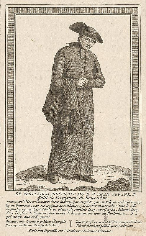 Francúzsky grafik z prelomu 18. - 19. storočia – Portrét Jeana Seranea