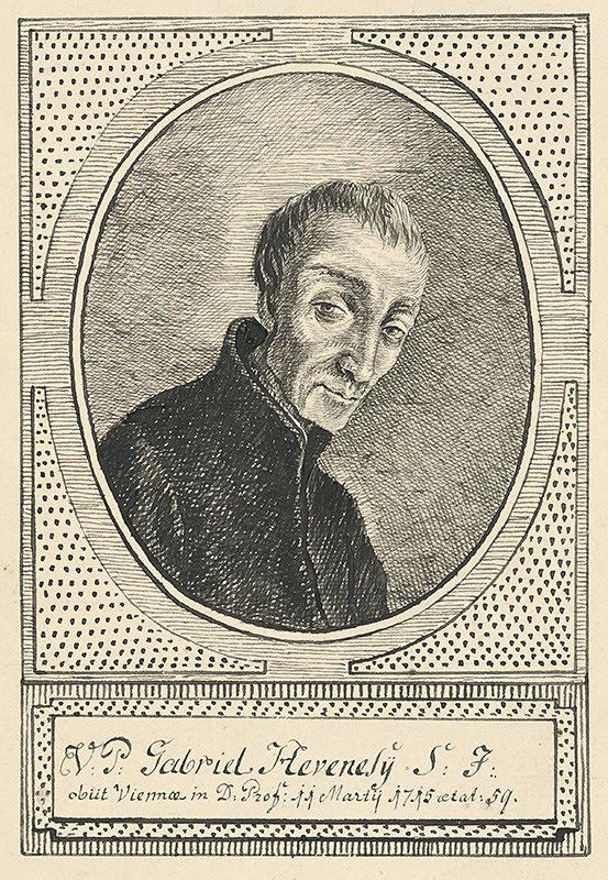 Stredoeurópsky grafik z 18. storočia – Portrét Gabriela Hevenelyho