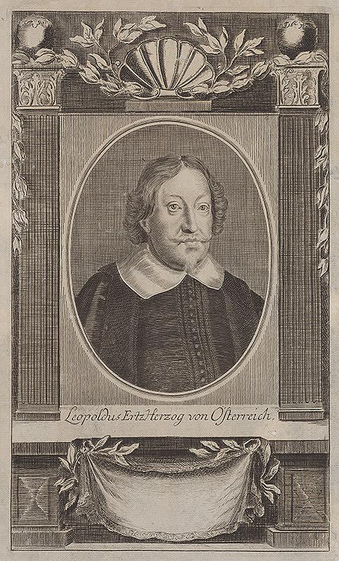 Stredoeurópsky grafik z 18. storočia – Arcivojvoda Leopold V.