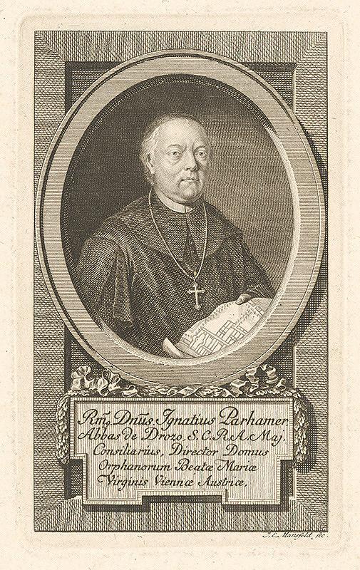 Johann Ernst Mansfeld - Portrét Ignáca Parhamera