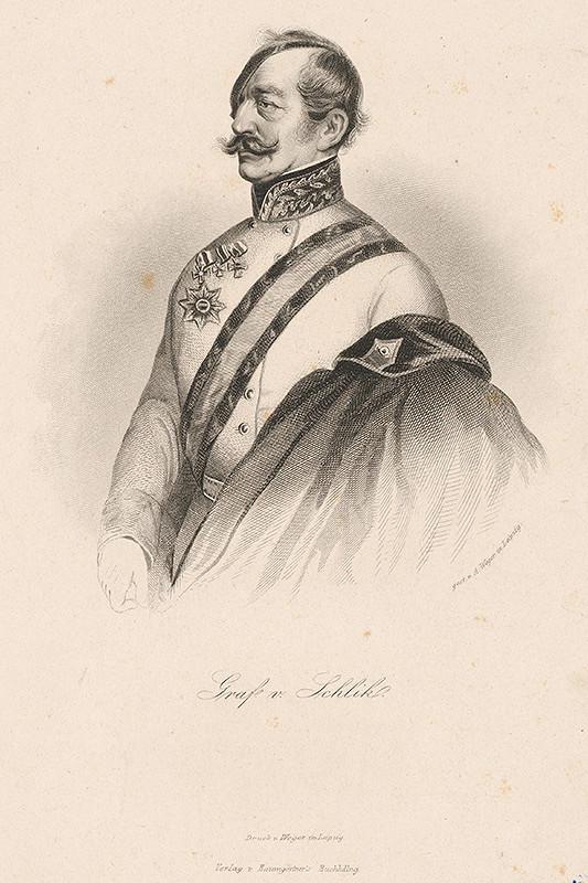 August Weger – Portrét grófa v.Schlicka