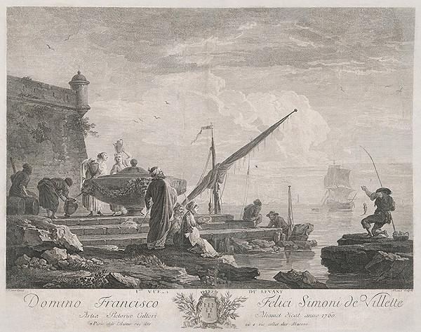 Jacques Aliamet, Claude-Joseph Vernet – Prístav (Pohľad na Levant)