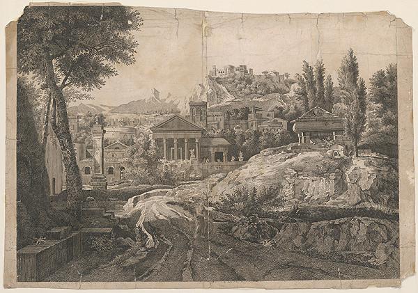 Stredoeurópsky grafik z 18. storočia – Staré antické mesto