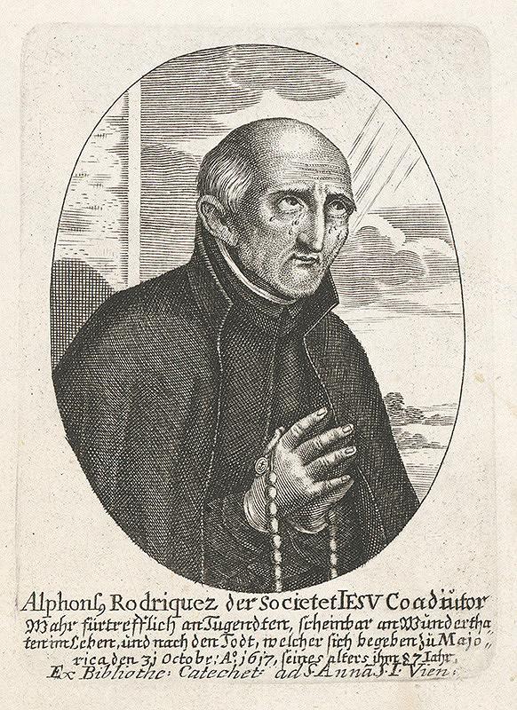 Stredoeurópsky grafik z 18. storočia - Portrét Alfonza Rodrigueza