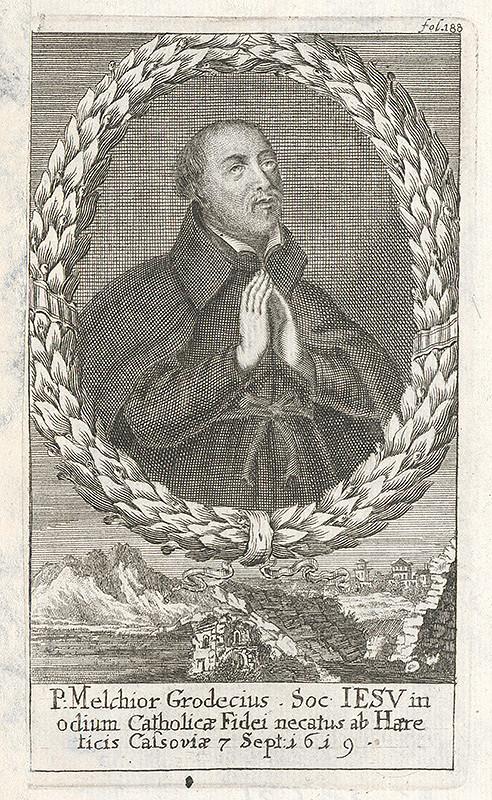 Stredoeurópsky grafik zo 17. storočia – Portrét P.Melchiora Grodecia
