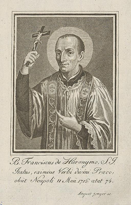 Augustin Zenger – Portrét B. Franciska Hieronyma
