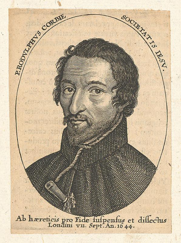 Stredoeurópsky grafik zo 17. storočia - Portrét Rudolfa Corbie-ho