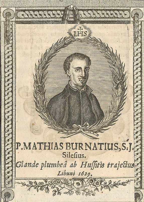Stredoeurópsky grafik zo 17. storočia - Portrét P.Mathiasa Burnatiusa