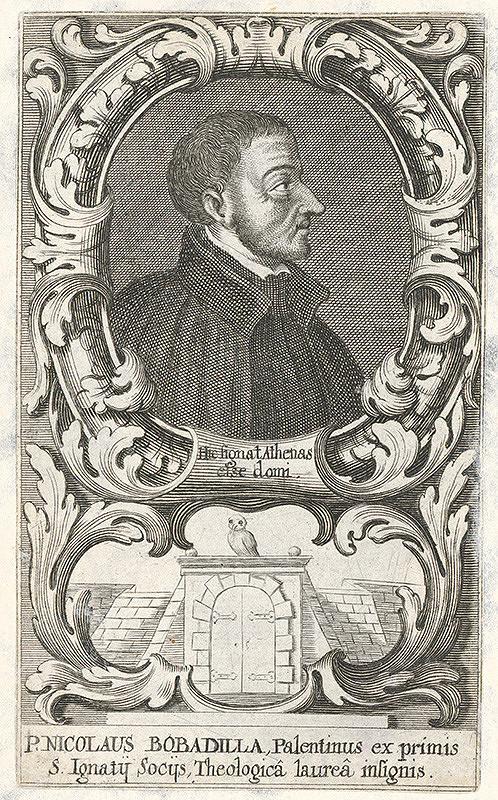 Stredoeurópsky grafik z 18. storočia – Portrét P. Nicolasa Bobadilla-a