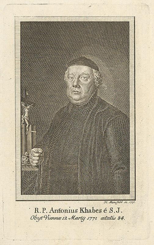 Johann Ernst Mansfeld - Portrét Antonia Khabesa