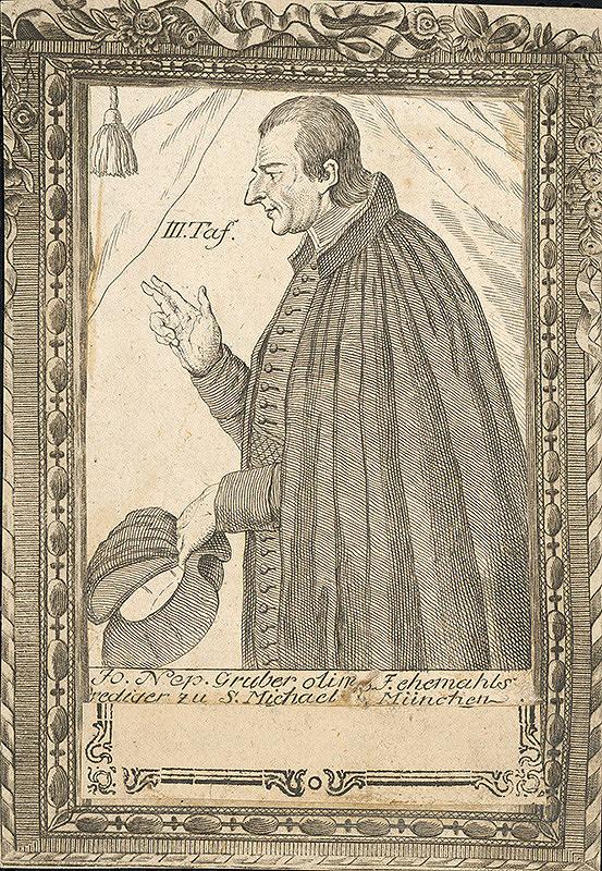 Stredoeurópsky grafik z 18. storočia – Portrét J. Nep. Grubera