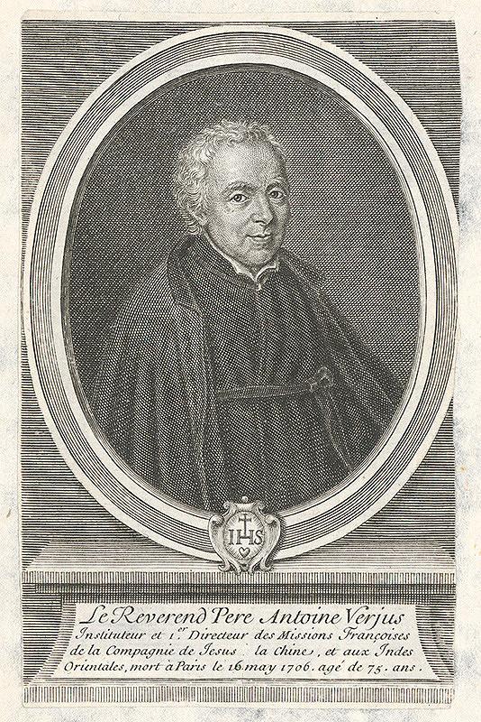 Francúzsky grafik z 18. storočia – Portrét Antoana Verjus-a