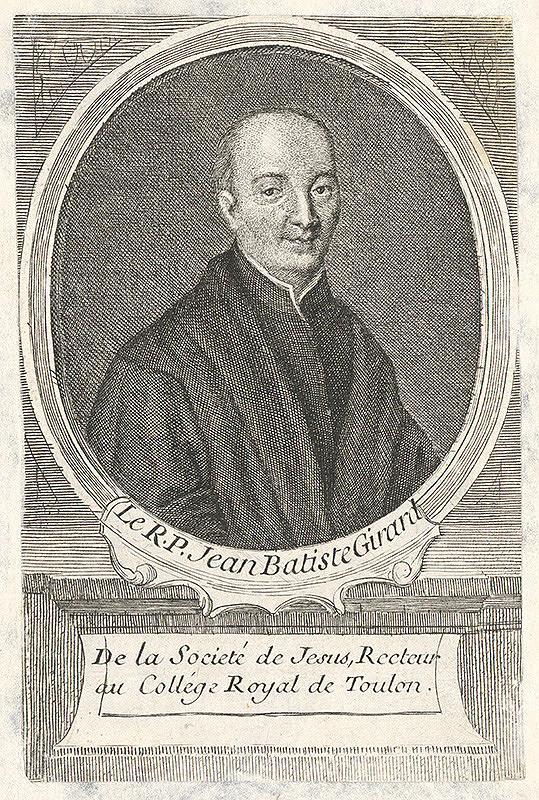 Francúzsky grafik z 18. storočia – Portrét Jeana Batistu Girarda