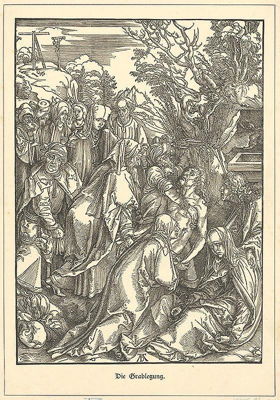 Albrecht Dürer - Ukladanie Krista do hrobu