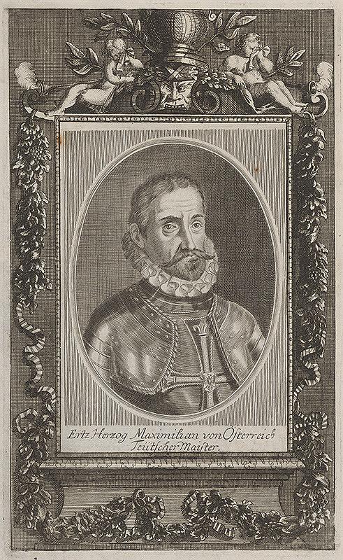 Stredoeurópsky grafik zo 17. storočia – Portrét Maximiliána II.