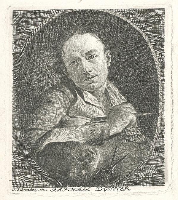 Joseph Schmutzer – Portrét Rafaela Donnera