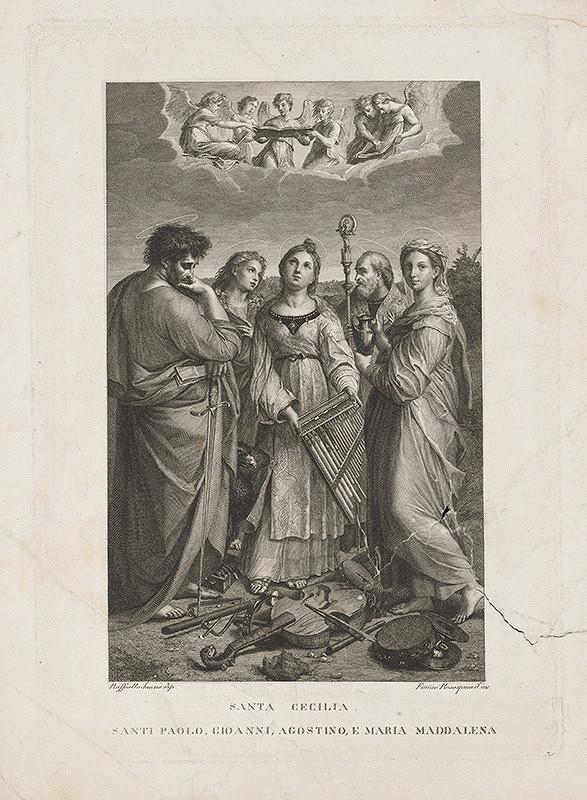 Francesco Rosaspina, Raffael – Sv. Cecília obklopená sv. Pavlom, sv. Jánom, Máriou Magdalénou a Augustínom
