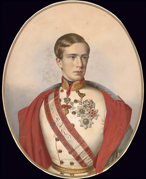 Stredoeurópsky grafik z 1. polovice 19. storočia - Portrét Františka Jozefa I.