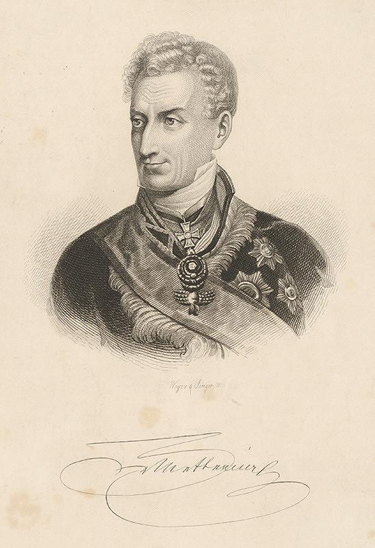 Johann Paul Singer, August Weger – Portrét kniežaťa Metternicha