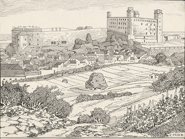 Karol Frech - Bratislavský hrad v 20. storočí-pohľad zo severozápadu