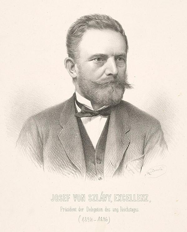 Adolf Dauthage - Portrét Jozefa v. Szlávyho